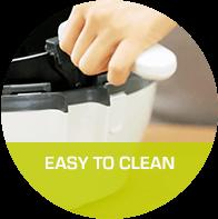 Leichte Reinigung : Spülmaschinengeeignete & herausnehmbare Bestandteile